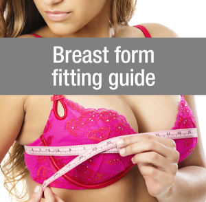 Breast form fitting guide